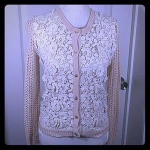 Hazel Crochet FloralSweater